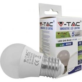 V-TAC PRO VT-246 LED BULB - SAMSUNG CHIP 5.5W E27 G45 PLASTIC 4000K
