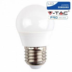V-TAC PRO VT-246 Led Bulb - Samsung Chip 5.5W E27 G45 Plastic 6400K