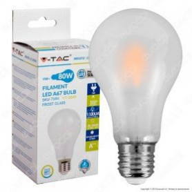 V-TAC VT-2049 LED Bulb - 9W Filament E27 A67 A++ Frost Cover 4000K-SKU7185