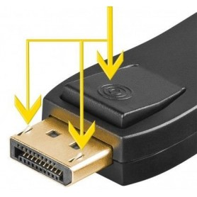 DISPLAYPORT-HDMI™ per adattatore 1.1  dorato