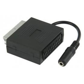 ADAT. SCART CON AUDIO STEREO CON SCART MASC.-JACK STEREO FEM. 3,5mm DA 0,20mt