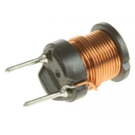 Induttore radiale Wurth 744772101 100 µH ±10%, 900mA Icc, 190mO Rcc Ferrite