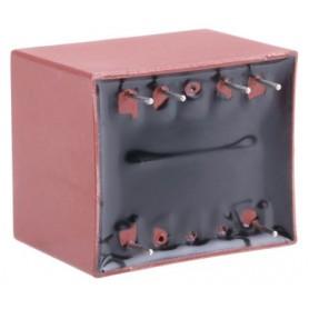 Trasformatore per PCB Myrra 2VA primario 230V ca secondario 2 x 12V ca 2 uscite su foro