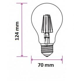 VT-2123 Lampadina LED E27 12,5W A70 Filamento 4000K
