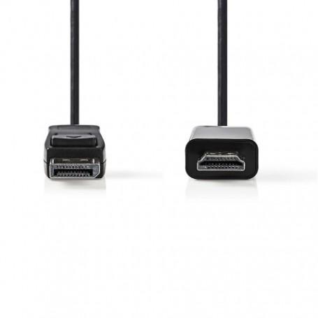 CAVO DISPLAYPORT MASCHIO - CONNETTORE HDMI™ 1.0m NERO