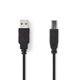 CAVO USB 2.0 MASCHIO A - MASCHIO B DA 3 mt NERO