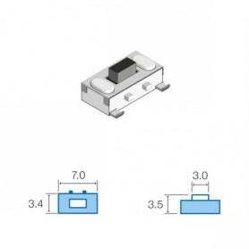 TACT SWITCHS SMD 3.4 x 7.0mm ALTEZZA TOTALE 3.5mm