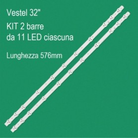 KIT 2 BARRE LED 11 LED PER VESTEL 32
