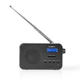 RADIO DAB+  3,6W FM FUNZIONE OROLOGIO E SVEGLIA NERA