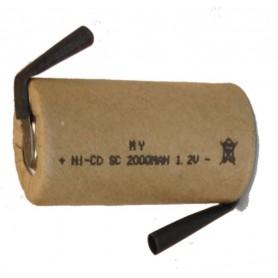 BATTERIA A SALDARE NI-CD SUB-C 1,2V 2000mA