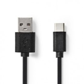 CAVO USB 2.0 TIPO C MASCHIO - A MASCHIO 1mt NERO