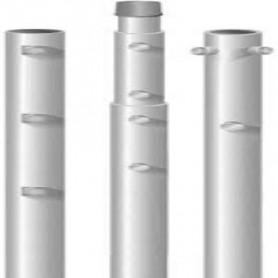PALO 3 PEZZI X 2mt    28x2 - 35x2 - 42x2  DADI M10