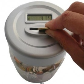 SALVADANAIO CON CONTA MONETE AUTOMATICO DISPLAY LCD