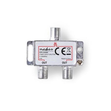 SPLITTER F CATV  ATTENUAZIONE MAX. 4,2 dB  5-1000 MHz  2 USCITE