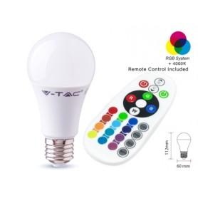 VT-2229 Lampadina LED E27 9W A60 con Telecomando RGB + 4000K - SKU 2767