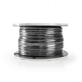 CAVO MICROFONICO 2x 0,25 mm2 BUBINA 100mt NERO