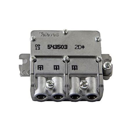 DIVISORE TERRESTRE E SATELLITARE 4.4 dB - 5-2400 MHz - 2 USCITE