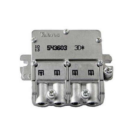 SPLITTER SATELLITARE CONNETTORE F 8.5 dB - 5-2400 MHz - 3 Outputs