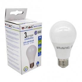 V-TAC VT-2011 LAMPADINA LED E27 9W A60 3 STEP DIMMERABILE 4000K