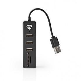HUB USB  3 PORTE USB 2.0 LETTORE DI SCHEDE SD-MicroSD