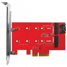 SCHEDA ADATTATORE INT.X SSD ATLANTIS A06-M2-DUAL-P4 DI TIPO M2.NVME O M2 SATA SU SLOT PCI-E 4X