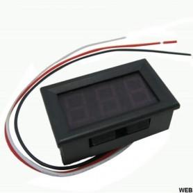 VOLMETRO DIGITALE DISPLAY LED BLU DC 0-30V 3 FILI