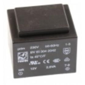 12V-125MA TRASFORMATORE DA C.S. 230V EI30 1,5VA 32,6X27,6X23,7MM