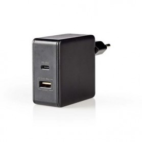 CARICABATTERIE 1x 2.4 A - 1x 3.0  A 2 USCITE 1x USB-A - 1x USB-C™ 57W  SELEZIONE AUTOMATICA DI TENSIONE
