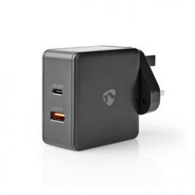 CARICABATTERIE 2x 3.0 A 2 USCITE 1x USB-A - 1x USB-C™ 48W  SELEZIONE AUTOMATICA DI TENSIONE