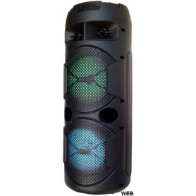 CASSA ACUSTICA 2x 6.5 10W BATTERIA EFFETTI LED BLUETOOTH - SD - USB- RADIO