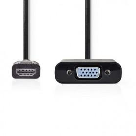 CAVO HDMI™ - VGA Femmina 15p  1080p PLACCATO NICKEL 0.20 mt