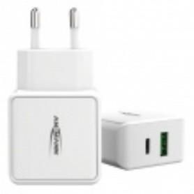 HC218PD CARICATORE 1 USB PIU\' 1 USB C  3A