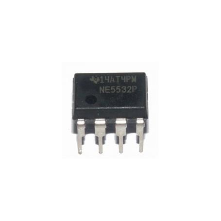 NE5532N - dual low noise op amp. 8p