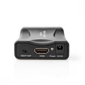 CONVERTITORE HDMI ™ SCART FEMMINA INGRESSO HDMI ™ DIREZIONE UNICA  1080p  1.2 Gbps  ABS
