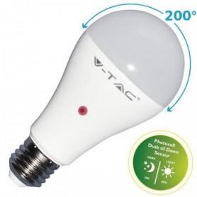 LAMPADINA LED E27 9W A60 CON SENSORE CREPUSCOLARE 4000K