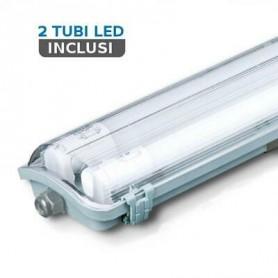 V-TAC VT-12023 Plafoniera LED Doppia Impermeabile 36W 120cm 4000K IP65