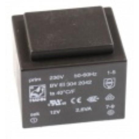 12V-217MA TRASFORMATORE DA C.S. 230V EI30 2,6VA 32,6X27,6X34,0mm 217mAh