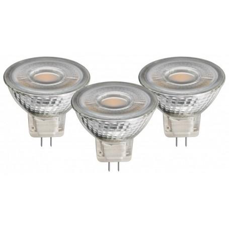3 x FARETTI LED 5W EQUIVALENTE A 35W GU5.3 BIANCO CALDO
