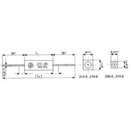 3,9R-5,0W RESISTENZA FILO ASSIALE 25X6,4mm