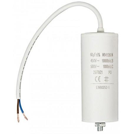 50,0UF-450V TWIN CABLE 250MM CONDENSATORE