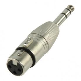 ADATT. MICROFONICO XLR PRESA 3 POL- SPINA JACK 6.3 MM. STEREO