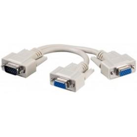 ADATTATORE DA MASCHIO USB A DUE FEMMINE PS2