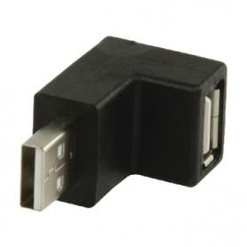 ADATTATORE USB 2.0 AD ANGOLO 90° MASCHIO A - FEMMINA A