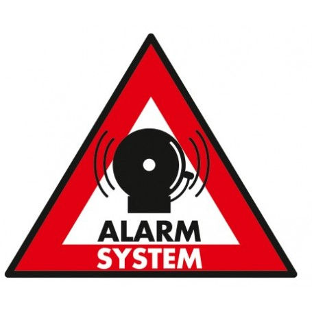 ADESIVO ALARM SYSTEM 123x148 MM