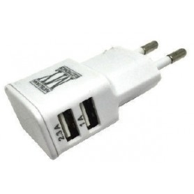ALIMENTATORE 110-240VAC 2 prese USB 1x2,1Ah - 1x1Ah
