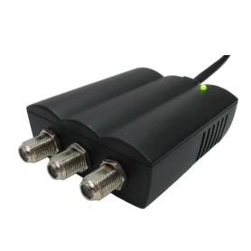 AMPLIF. DA INT. 1 IN - 2 OUT VHF-UHF 112dBuV GUAD. 25dB
