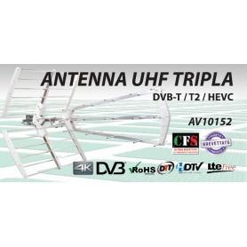 ANTENNA UHF LTE TRIPLA DIPOLO CON FILTRO CH 21 - 60