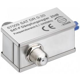 ATTENUATORE 0-20 dB PRESA F-PRESA F
