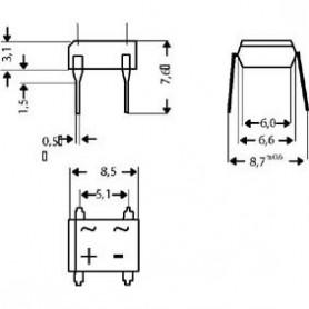 B1000D - Ponte raddrizzatore 1000v 1a