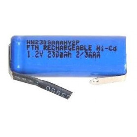 BAT. RICARICABILE NI-CD 2 TERZI AAA 1,2V 230mAh